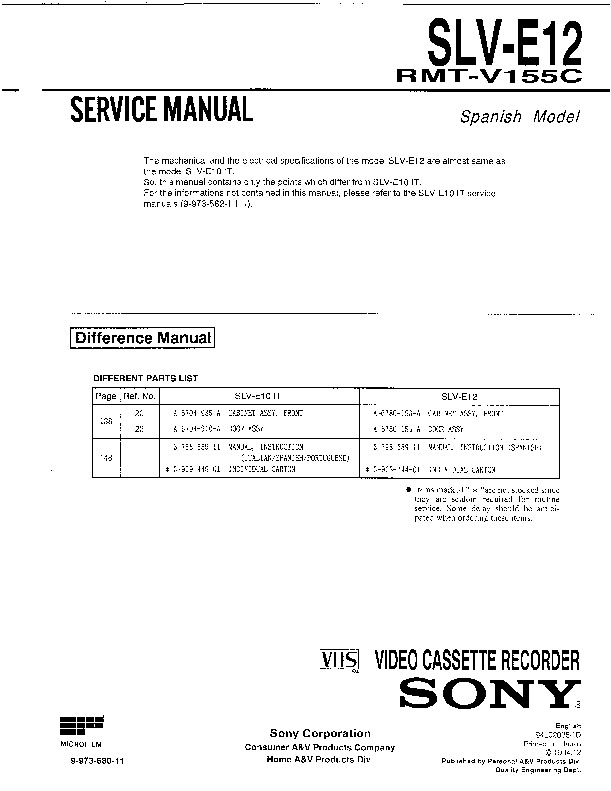 sony vcr service manuals page 12 rh servicemanuals us Diamond Anniversary Rings Women Square Diamond Earrings